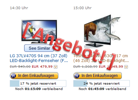 Amazon-Blitzangebote - LED Backlight TV im Angebot1