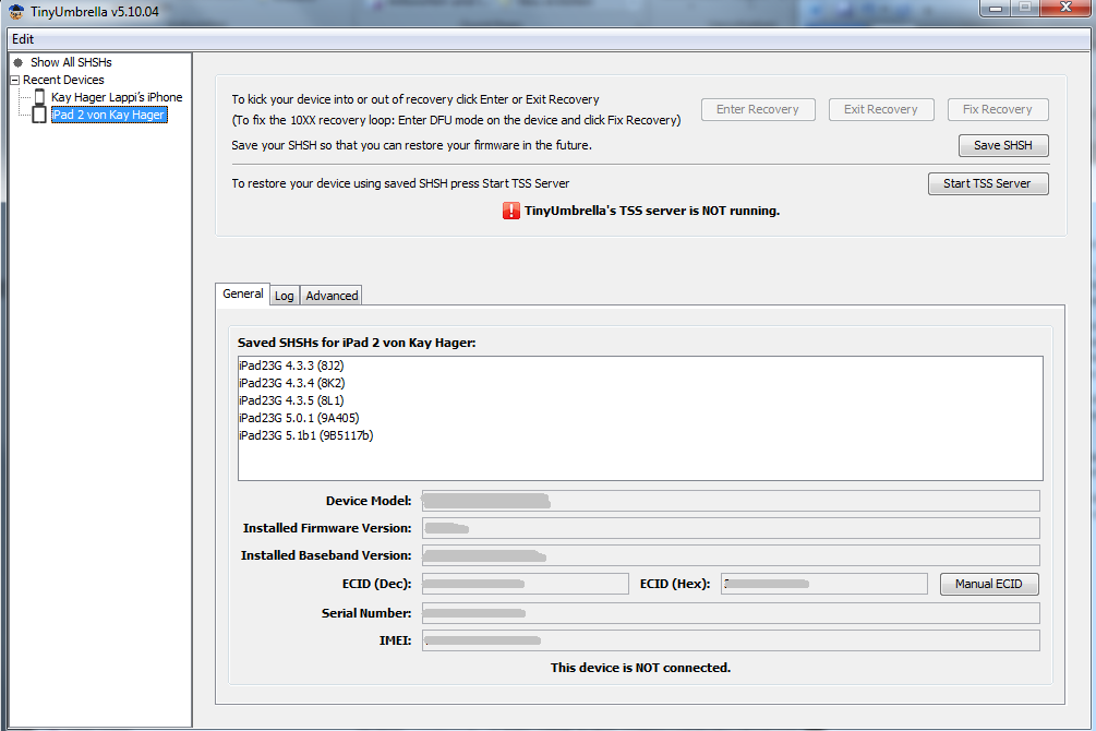 TinyUmbrella 5.10.04 Download - SHSH Sicherung