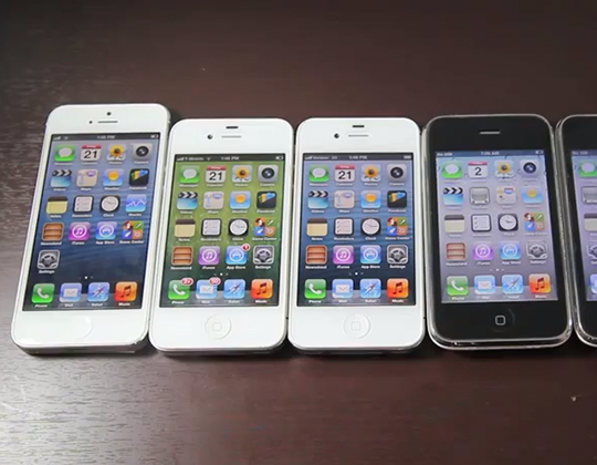 iPhone 5 vs. iPhone 4S, 4, 3GS, 2G_Vergleich