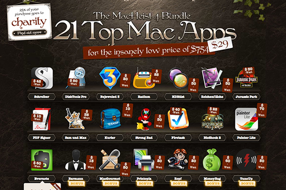 Spar-Aktion: 21 Top Mac Apps (754 Dollar) jetzt für 29 Dollar (MacHeist 4 Bundle)