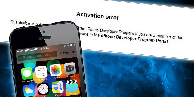 Sperrt Apple iOS 7 Beta User ohne UDID Registrierung?