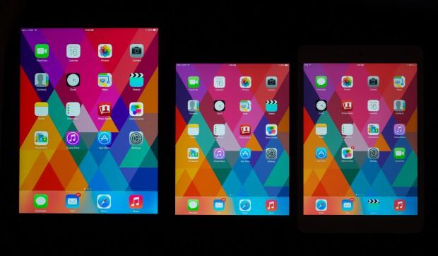 von links nach rechts: iPad Air, iPad mini Retina, iPad mini 1 (Foto: AnandTech)