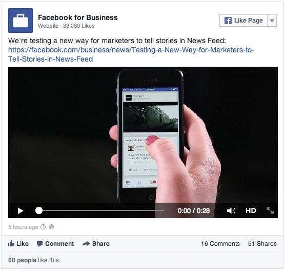 Facebook-Video-Werbung