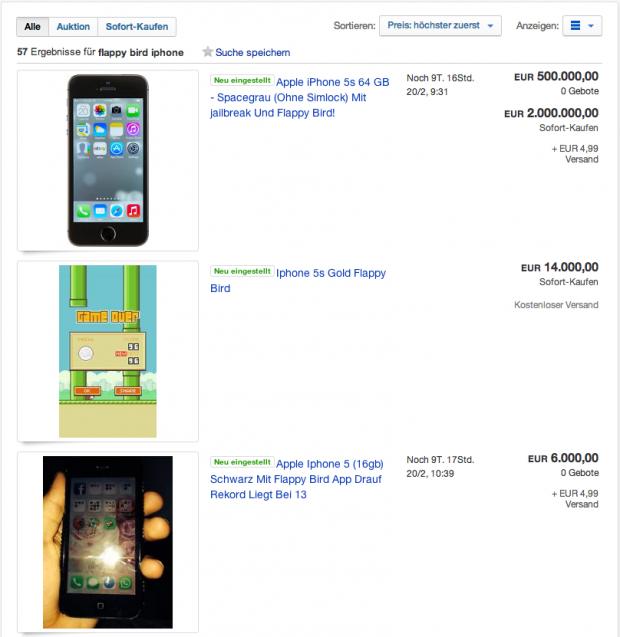 Flappy Bird als Wertsteigerung