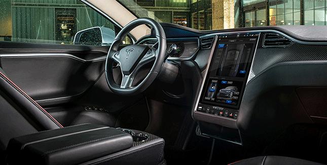 Tesla-Auto-Innenraum