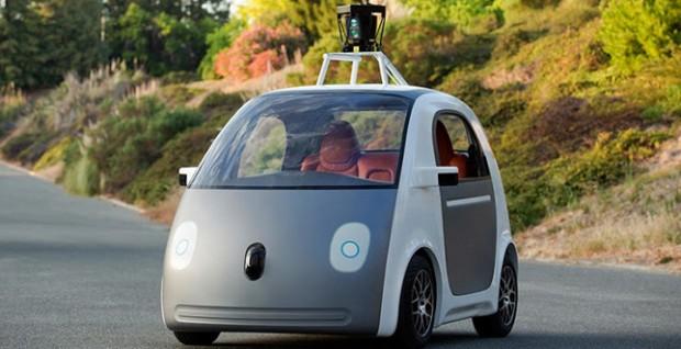 So sieht das Google-Auto ohne Lenkrad aus.
