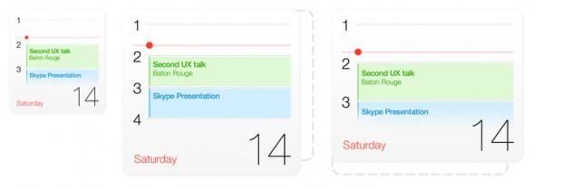 """Naja: Der """"Kalenderblock"""" zeigt in jeder Größe dieselben Informationen an."""