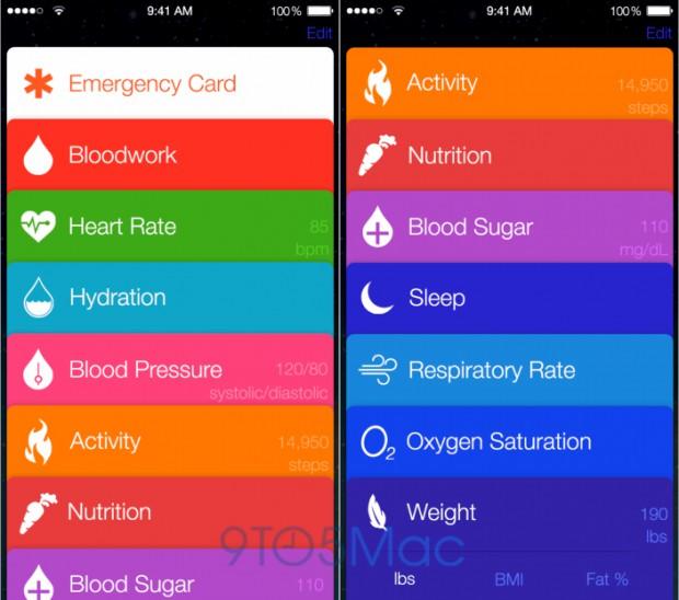Healthbook Mockup von 9to5mac